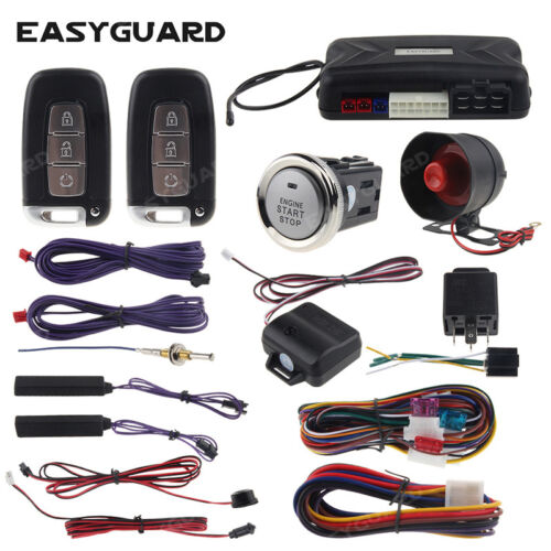 EASYGUARD pke car alarm keyless entry remote start push to start security alarm