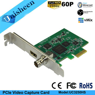 PCIe 60FPS HDMI SDI VIDEO CAPTURE Card Game Streaming Live S