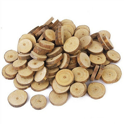 10X Round Wood Log Slices Discs for Wedding Centerpieces Table Decor DIY Craft (Wood Slices For Centerpieces)