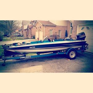 1998 hydrasports bass boat