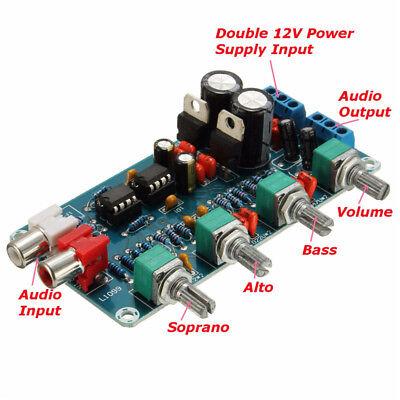 NE5532 OP-AMP HIFI Preamplifier Amplifier Volume EQ Tone Control Board