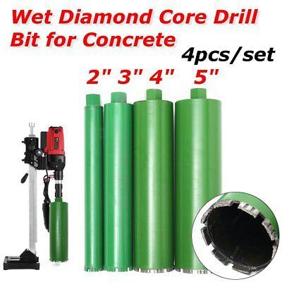 2 3 4 5 Combo Wet Diamond Core Drill Bit For Concrete Premium Green