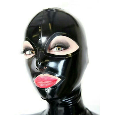 Girl Mask - Latex Hood Handmade Rubber Mask for Catsuit Beautiful Girl Club Wear Costumes