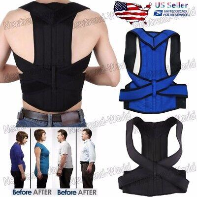 Best Posture Corrector Spine Back Support Shoulder Brace Orthotics Belt