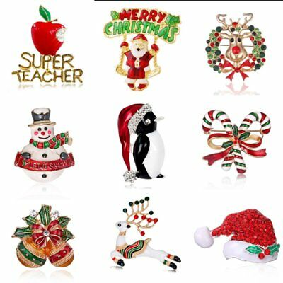 Merry Christmas Santa Clause Xmas Hat Brooch Pin Women Party Costume Jewelry Hot