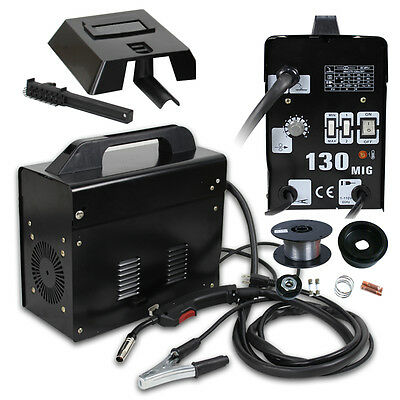 Mig 130 Welder Flux Core Wire Automatic Feed Welding Machine W Mask