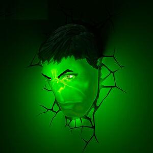 3d Deco Led Night Light Hulk Mask 3d Huld Fist Wall