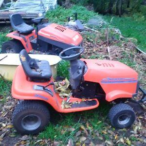 2 lawn tractors