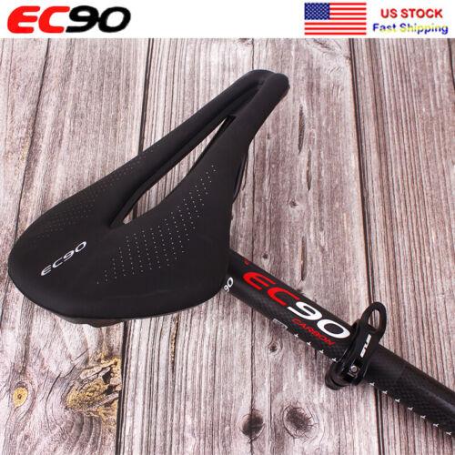 EC90 Carbon Seatpost 27.2//30.8//31.6*350//400mm MTB Bike Gel Soft Leather Saddle