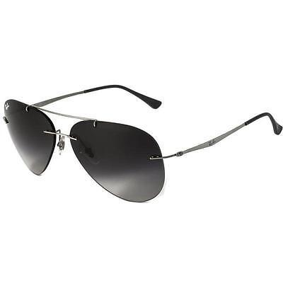 Ray Ban RB8055 159/8G Aviator Lightray Titanium Grey & Grey Gradient Sunglasses