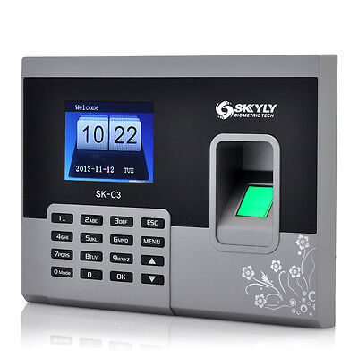 Fingerprint Time Attendance Clocks Black