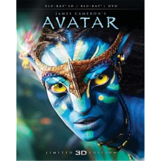 Avatar with Limited Edition Blu-ray 3D + Blu-ray + DVD RB New