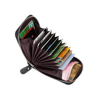 Genuine Leather Slim Card Holder Wallets For Men RFID Blocki