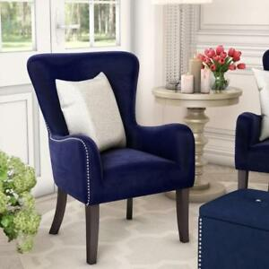 Kaat Velvet Wingback Chair