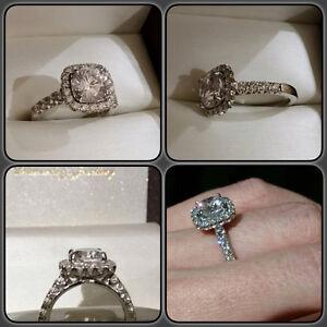Beautiful Ritani 3kt Diamond Ring. 18kt gold.