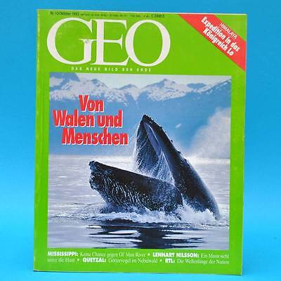 GEO Magazin 10/1993 Wale Mississippi Quetzal RTL Welthungerhilfe Nilssonportrait