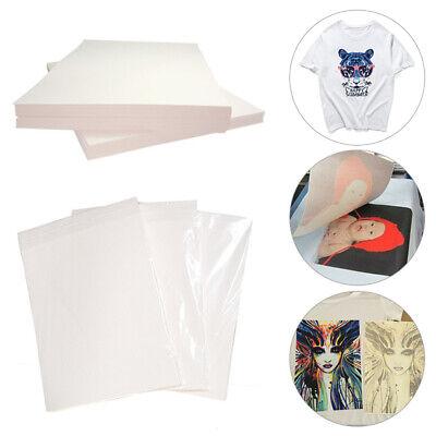 20pcs A4 Heat Transfer Paper Sheets T-shirt Print For Light Fabric Cloth Craft