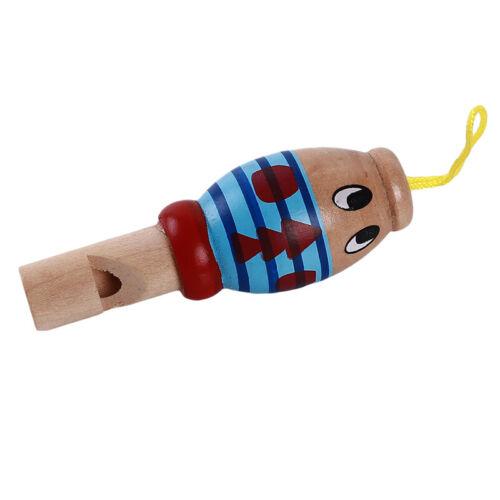 Children Kids Intellectual Developmental Animal Wooden Whistle Musical
