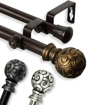 InStyleDesign Lux Adjustable Double Curtain Rod Set