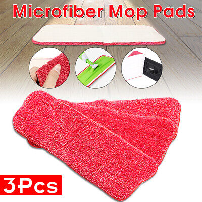 3Pcs Household Dust Cleaning Reusable Microfiber Pad Replacement For Spray -