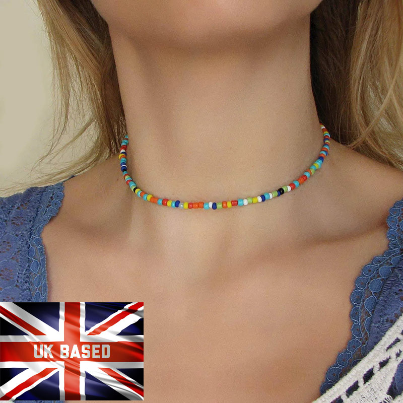 Jewellery - Necklace Choker String Beaded Strand Women Men Jewelry Elegant Cute Gift UK