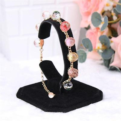 Black Velvet C Type Design Jewelry Bracelet Watch Display Rack Stand Holder Hi