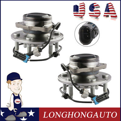 2X Front Wheel Hub Bearing Assembly Fit 99-13 Chevrolet Cadillac GMC 515053 2WD