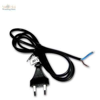 Euro- Cable de Red 1,5m Negro Enchufe Euro Enchufe