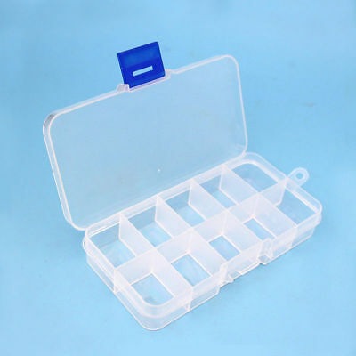 Electronic Component Assortment Parts Kits Plastic Storage Box Diy Case 10 Grids