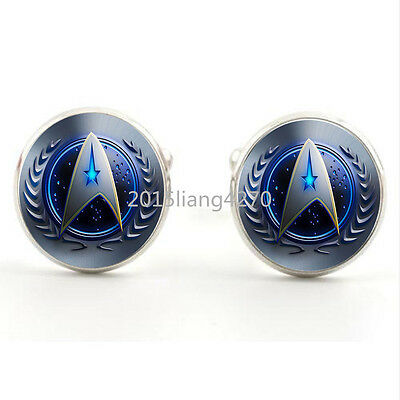 Star Trek Movie Steampunk Team New Mens Silver Cufflinks For Weddings Gift  Prom