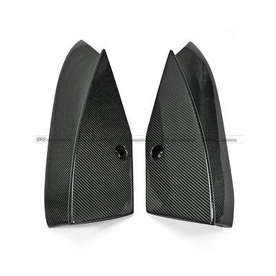 (Rear Bumper Spat Add on Extenstion Kit For Tesla Model S Revo Style Carbon Fiber)