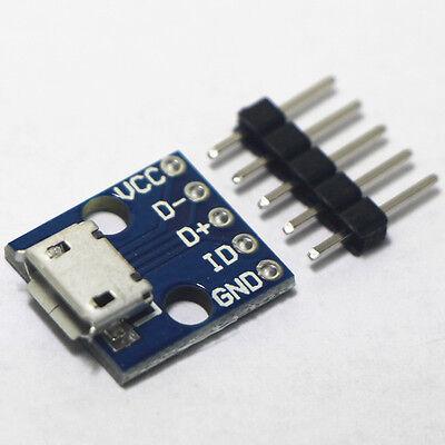 10pcs usb micro-b breakout board power charging converter module