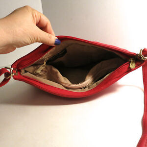 Leather Red Purse Handbag Bag by Leather by Mann Kitchener / Waterloo Kitchener Area image 3
