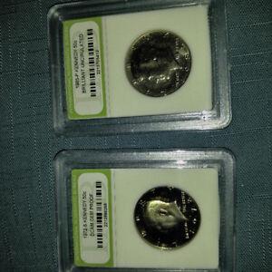 1972 & 1985 kennedy 50c