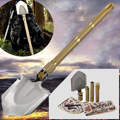 Multifunction Camping Army Entrenching Folding Survival Shovel Durable Spade USA
