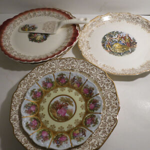 6 Plates Serving Platters European Dishes Floral Christmas Kitchener / Waterloo Kitchener Area image 3