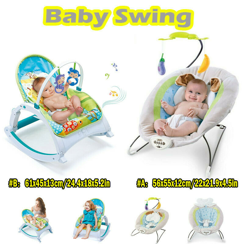 Electric Rocker Baby Swing Infant Portable Cradle Bouncer Se