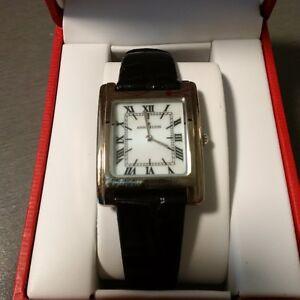 Anne Klein Women's SS Watch With Leather Band