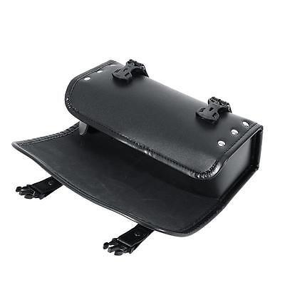 Motorcycle Tool Bag PU Leather Luggage Handlebar Sissy Bar Round Storage Pouch