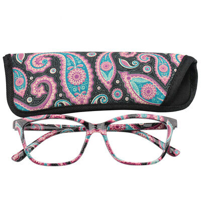 Womens Pocket Pouch Cheap Spring Hinge Presbyopic Reading Glasses +1.0 to (Cheap Reading Glasses For Women)