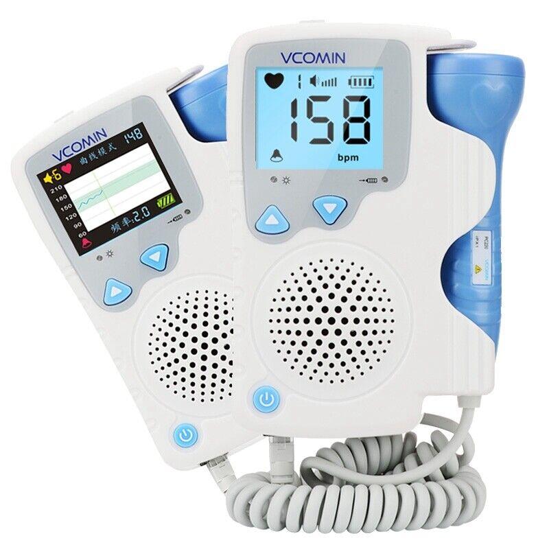 2.0 MHz LCD Prenatal Fetal Baby Monitor Doppler Baby Heart Rate Detector Blue US