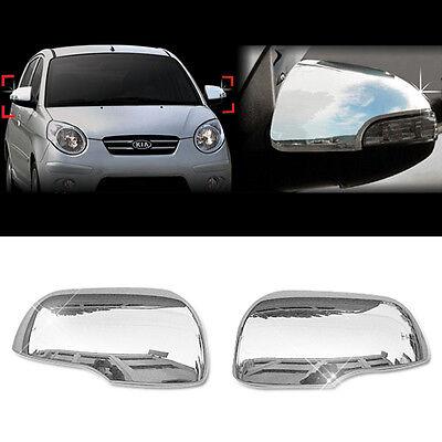 Chrome Silver Side Mirror Cover Molding Garnish B725 for KIA 2011-2017 Picanto