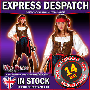 FANCY-DRESS-COSTUME-LADIES-CARIBBEAN-PIRATE-WOMAN-SIZE-6-28