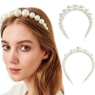 Women's Pearl Hairband Headband Princess Crystal Crown Hair Hoop Accessories](Princess Headband)