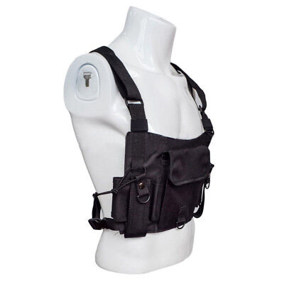 Radio Harness Chest Rig Bag Adjustable Holster Vest Police Walkie-talkie Bag