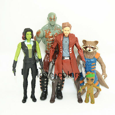 5 x Guardians of the Galaxy Vol. 2  action figures Star-Lord Rocket Groot Drax