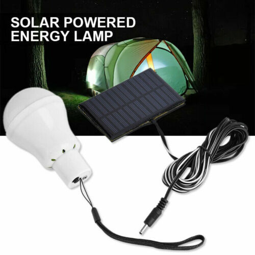 3W Portable Solar Panel Power LED Bulb Lamp Outdoor Camp Ten