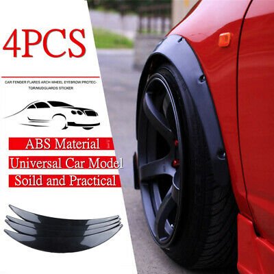 4x DIY Car Wide Body Wheel Arch Eyebrow Fender Flare Protector Carbon ABS ABS UK