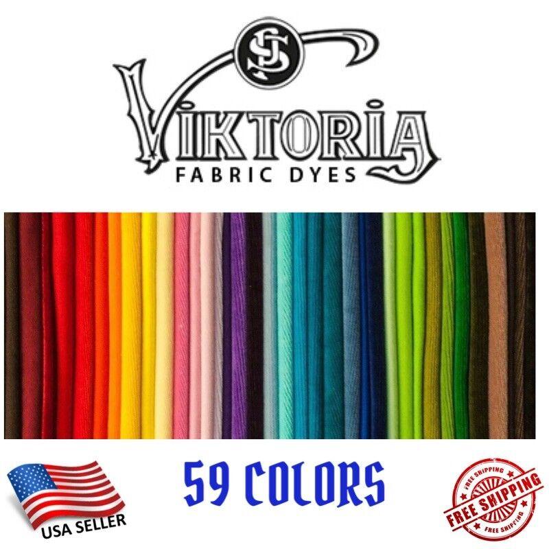 Fabric Dye Viktoria All Purpose 59+ Fashion Colors DIY (0.35 Oz Powder)