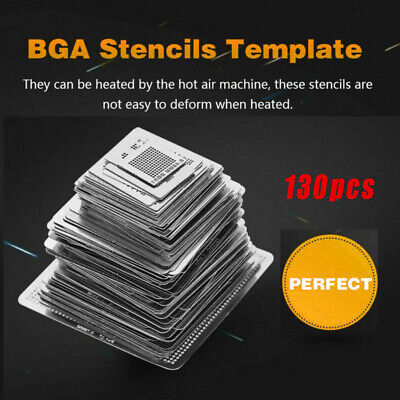 Bga Templates Set Net Stencils Directly Heat Kit Stainless Steel Silver Reball